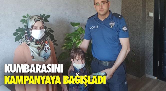 """Mersin Mezitli'de Yaşayan 6 Yaşındaki Yavuz Selim Elbir İsimli Çocuk Kumbarasındaki Parayı """"Biz Bize Yeteriz Türkiyem"""" Kampanyasına Bağışladı"""