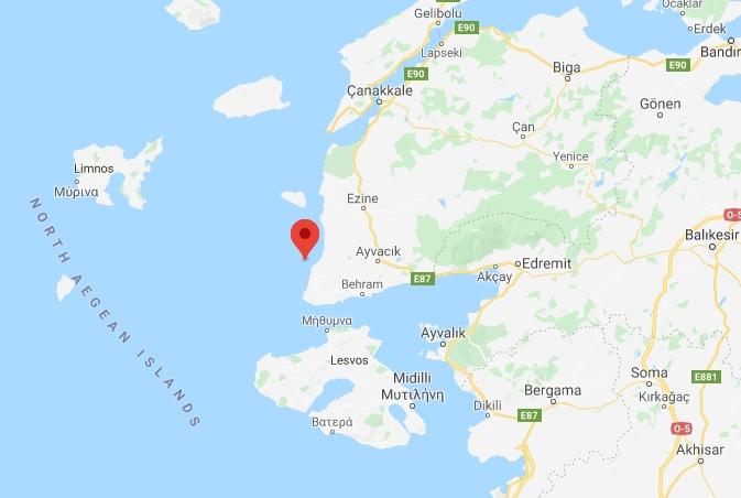 Merkez Üssü Gülpınar - Ayvacık (Çanakkale) Olan 3.4 Büyüklüğünde Deprem Meydana Geldi