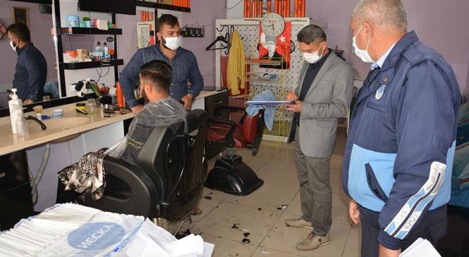Gülnar Belediyesi Zabıta Müdürlüğü Ekiplerinden Berber, Kuaför ve Güzellik Salonlarına Denetim