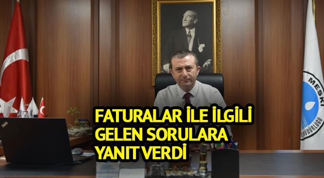 """MESKİ Genel Müdürü Alkaç: """"Faturalarda Zam Yapılmadı"""""""
