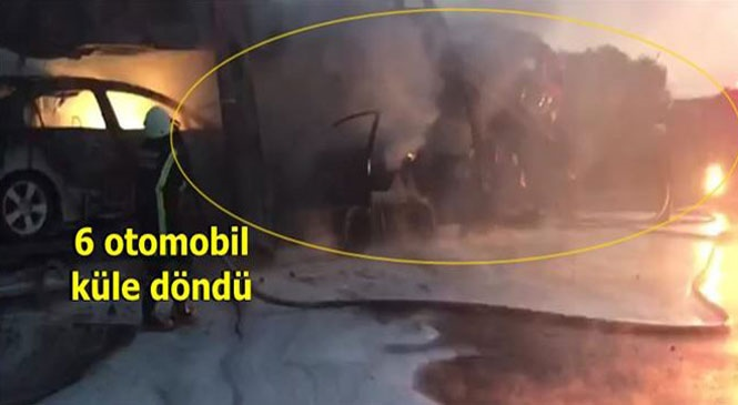 Otomobil Yüklü TIR Yandı! Mersin'in Tarsus İlçesinde Üstünde Otomobil Yüklü Bir Tırda Meydana Gelen Yangında Araçlar Yandı
