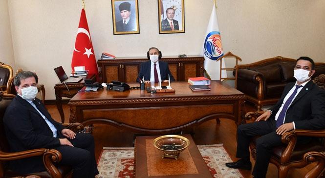 Mersin Milletvekili Sıdalı'dan Vali Su'ya Ziyaret