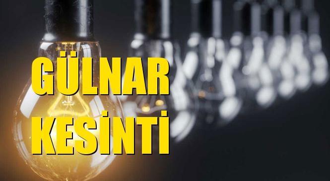 Gülnar Elektrik Kesintisi 17 Mayıs Pazar