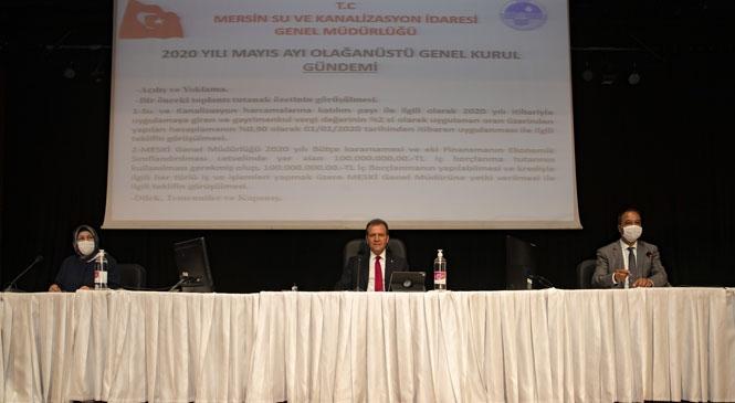 Mersin'de İlk Abonelik Ücretinde İndirim! MESKİ'ye 100 Milyon Lira Borçlanma Yetkisi Verilmesi Talebi Reddedildi