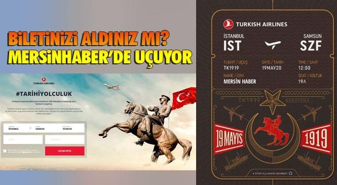THY Biletini Al! Türk Hava Yolları 19 Mayıs Atatürk'ü Anma, Gençlik ve Spor Bayramı'na Özel Samsun'a Tarihi Bir Uçuş Gerçekleştirecek! 23 Nisan'da Gökyüzüne Ay Yıldız İzini Bırakmıştı