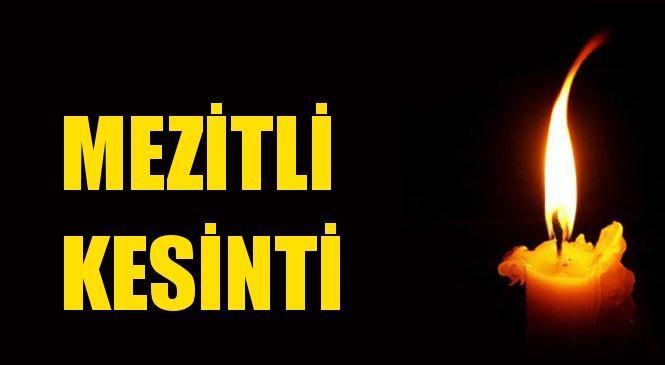 Mezitli Elektrik Kesintisi 21 Mayıs Perşembe
