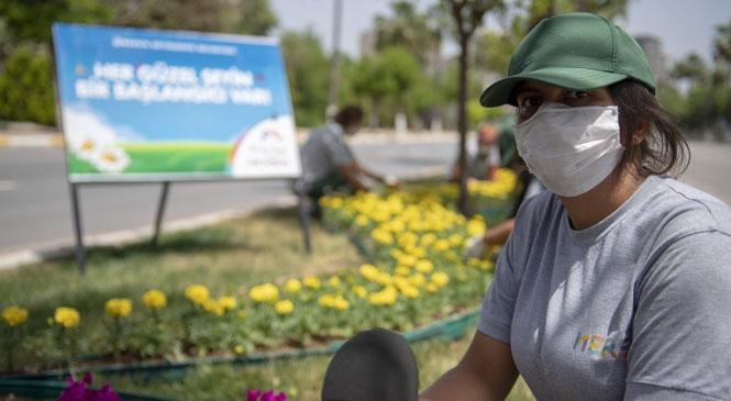 Mersin'de Kadınlar Refüjleri Çiçeklendiriyor! Büyükşehir'in Peyzaj Master Planı Kente Uzun Soluklu Canlılık Getiriyor