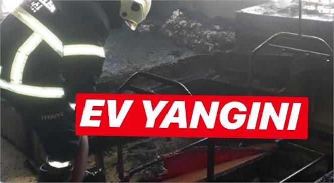 Mersin Tarsus Yenice'de Ev Yangını