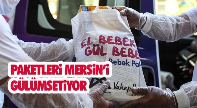 """Bebek Paketi Taleplerinin Yüzde 80'ini Karşılayan Mersin Büyükşehir'in """"El Bebek Gül Bebek"""" Paketleri 8 Bin Aileye Ulaştı"""