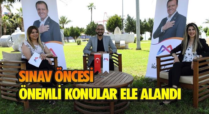 Mersin'de Üniversite Sınavına Girecek Öğrenciler İçin Uzmanlar İle Özel Bir Yayın Hazırladı