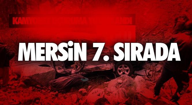 Türkiye'de 174 Bin 896 Adet Ölümlü Yaralanmalı Trafik Kazası Meydana Geldi!ölümlü Yaralanmalı Kazalarda Adana 8. Sırada, Mersin ise 7. Sırada Yer Aldı