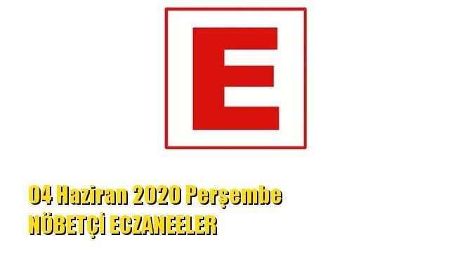Mersin Nöbetçi Eczaneler 04 Haziran 2020 Perşembe