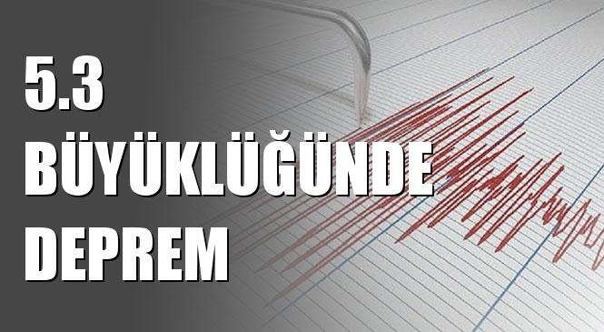 Merkez Üssü Çayköy - Pütürge (Malatya) Olan 5.3 Büyüklüğünde Deprem Meydana Geldi