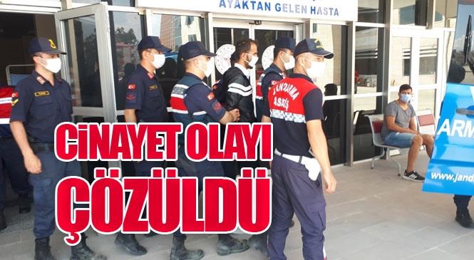 Mersin Anamur Çeltikçi Mahallesinde Jandarma Ekiplerinin Kontrol Etmek İstediği Araçtan İnerek Kaçan Şahısın Terk Ettiği Araçta Cinayet İşlendiği Ortaya Çıktı