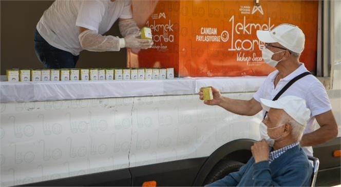 Haftada Bir Gün İzni Olan Yaş Almışların Limonatası Mersin Büyükşehir'den! Sıcak Havada Serinleten İkram