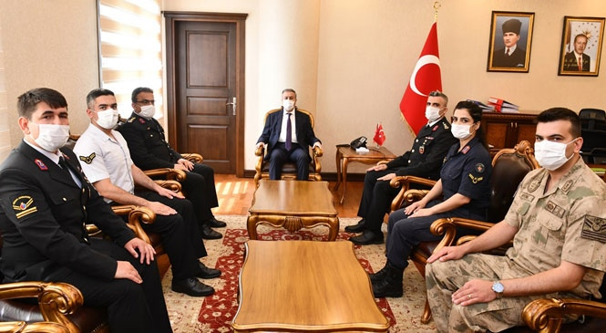 Jandarma Teşkilatı'ndan Mersin Valisi Su'ya 181. Kuruluş Yıldönümü Ziyareti