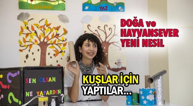 Mersin'de Hazırlanan Yeni Sosyal Medya İçeriğinde Çocuklar İçin Atık Malzemeleri Dönüştürüyor! Yeni İçeriğin İlk Videosunda Kuşlar İçin Yem Kutusu Yaptılar