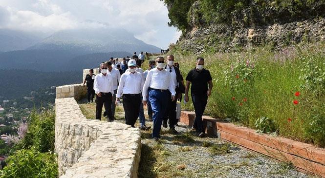 Mersin Valisi Ali İhsan Su, Çamlıyayla İlçesinde Temaslarda Bulundu