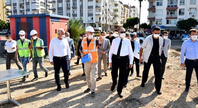 Mersin Valisi Ali İhsan Su, Yapımı Devam Eden Millet Bahçesinin Çalışmalarını Yerinde İnceledi