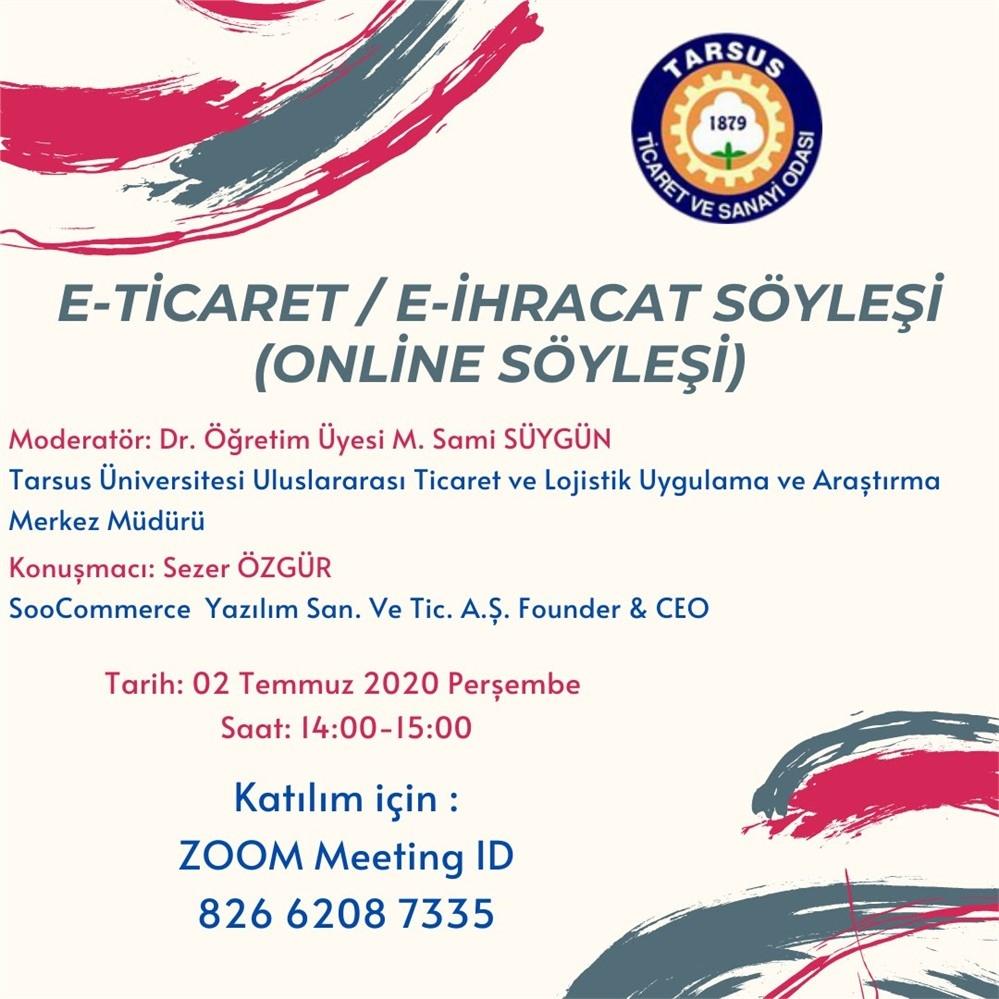 Tarsus TSO'dan Üyelerine E-ihracat Semineri