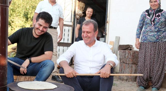 Mersin Büyükşehir Belediye Başkanı Vahap Seçer, Kırsal Mahallelere Çıkarma Yaptı