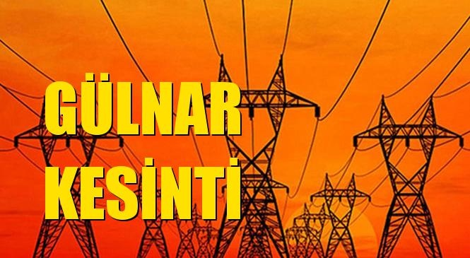 Gülnar Elektrik Kesintisi 07 Temmuz Salı