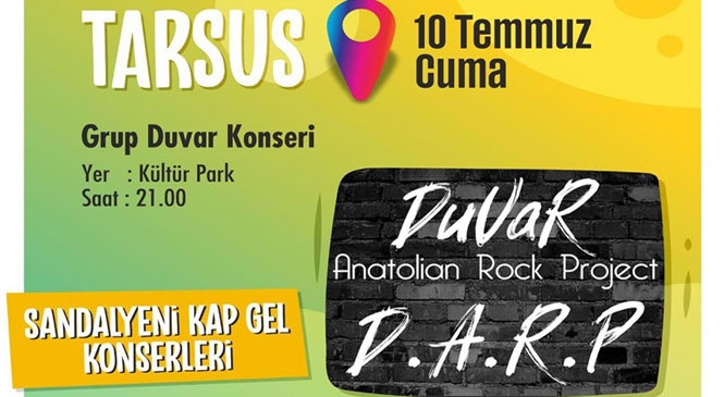 Grup Duvar Tarsus'ta Konser Verecek