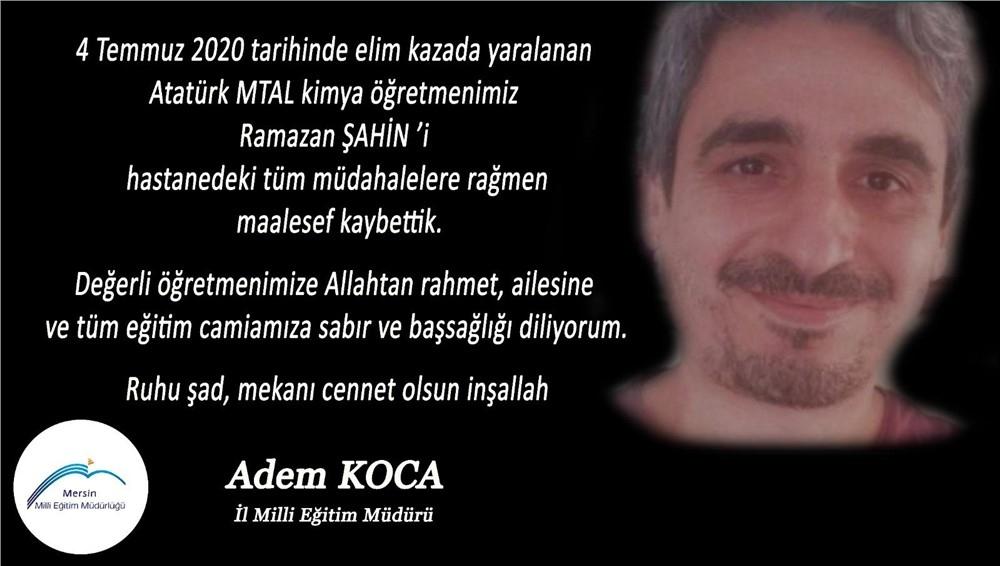 Atatürk Mesleki ve Teknik Anadolu Lisesindeki Patlamadan Acı Haber: Öğretmen Ramazan Şahin Hayatını Kaybetti
