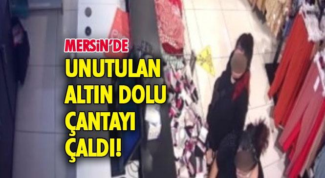 Mersin'de İçi Altın Dolu Çantayı Çalan Kadın Evini Taşırken Yakalandı! Mağazada Unutulan Altın Dolu Çantayı Çaldı