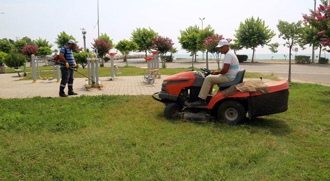 Erdemli Belediyesi Bakım Çalışmalarını Sürdürüyor