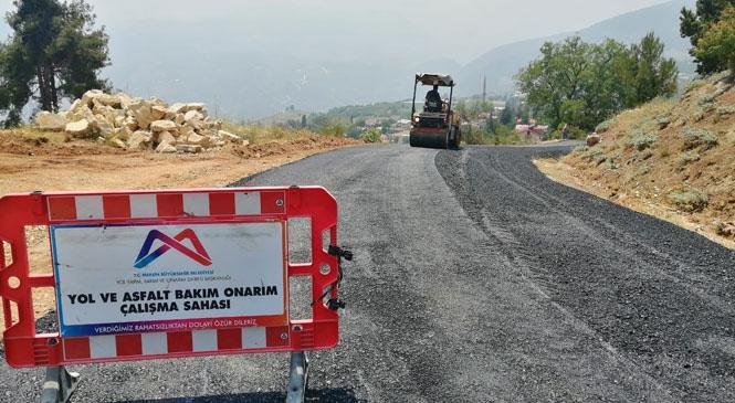 Büyükşehir'den, Böğrüeğri - Boztepe Arasında Yol Yapım Çalışması