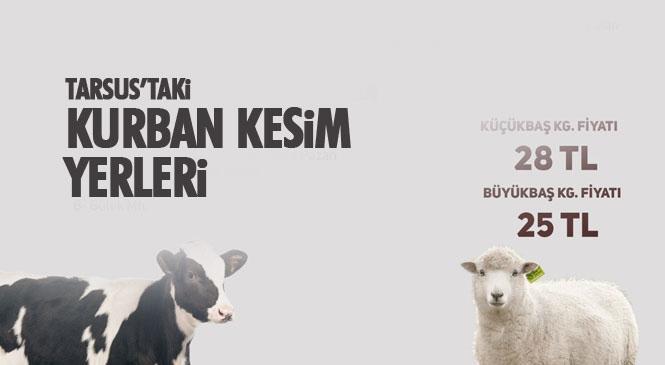 Tarsus'ta Kurbanlık Fiyatları İle Satış ve Kesim Yerleri Belirlendi