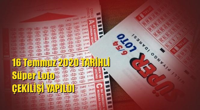 16 Temmuz 2020 Süper Loto Sonuçları