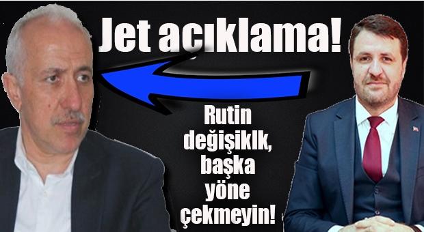 """Akdeniz Belediye Başkanı'ndan Jet Açıklama: """"Başka Yerlere Çekmeyin, Rutin Bir Değişim!"""""""