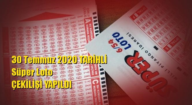 30 Temmuz 2020 Süper Loto Sonuçları