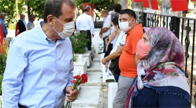 Başkanı Vahap Seçer, Şehitler İçin Kurban Kesti