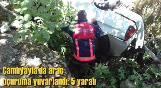 Bayram Gezmesine Çıkmışlardı; Mersin Çamlıyayla'da Araç Uçuruma Yuvarlandı: 5 Yaralı