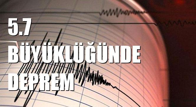 Merkez Üssü TEPEHAN-PUTURGE (Malatya) olan 5.7 Büyüklüğünde Deprem Meydana Geldi