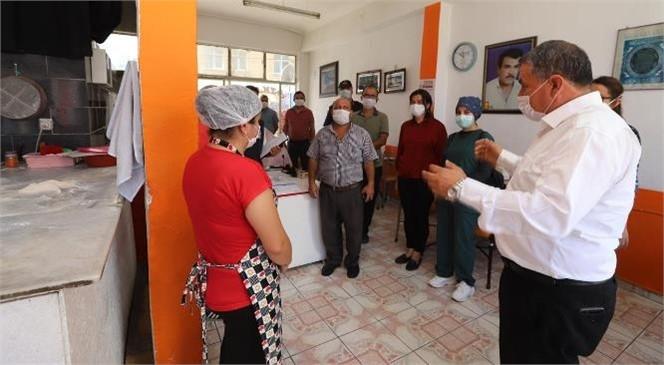 Koronavirüs Salgını İle Mücadelede Türkiye Geneli En Yoğun Denetim Kapsamında Gülnar'da da Covid-19 Tedbirleri Denetimi Yapıldı