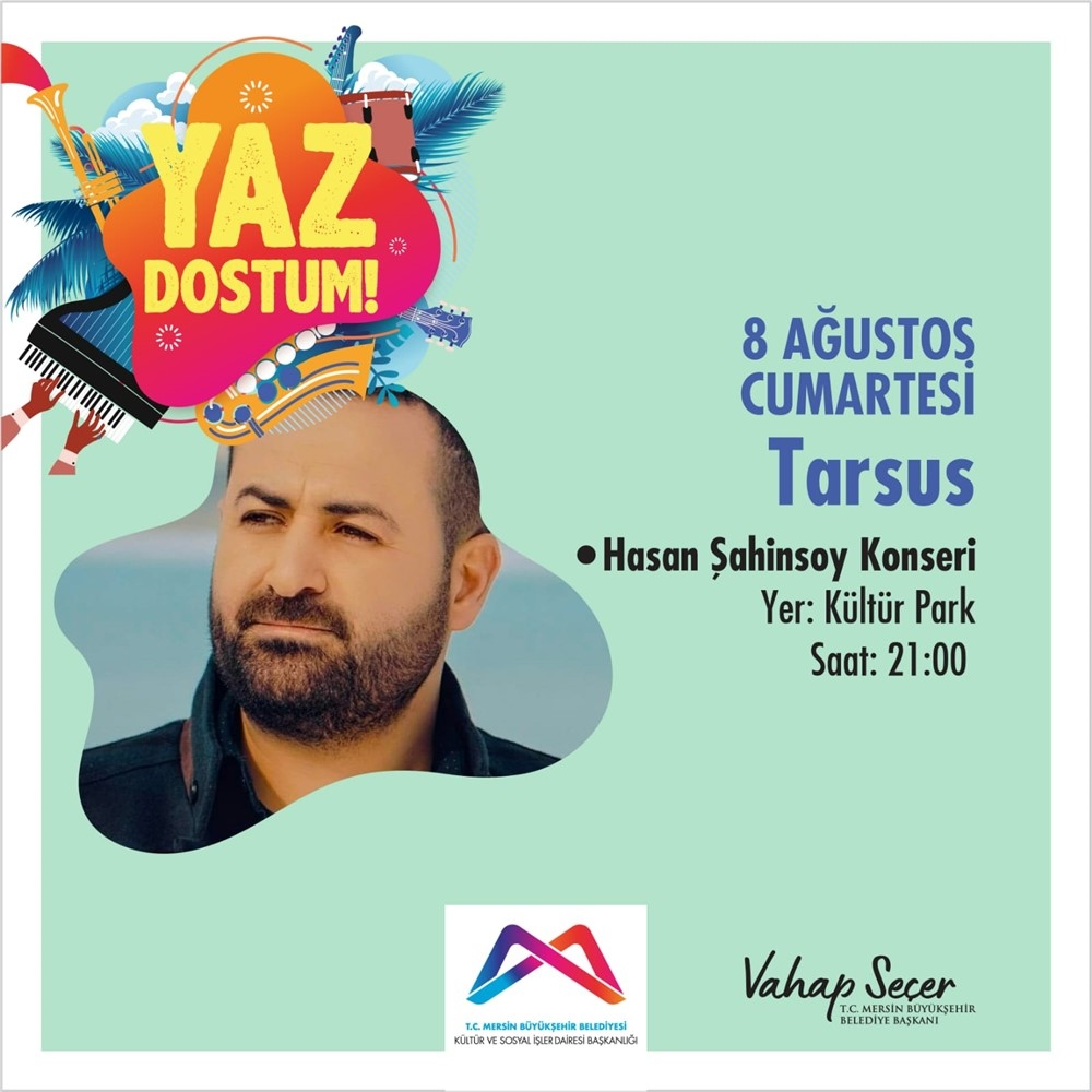 Ahmet Mercan ve Hasan Şahinsoy Tarsus'ta Sahne Alacaklar