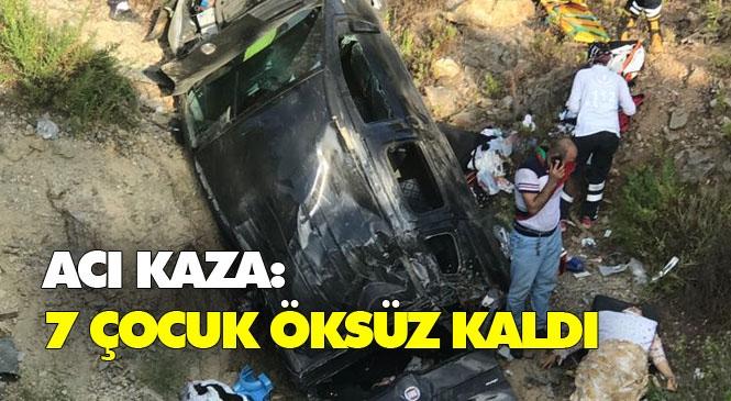 Antalya'dan Mardin'e Giden Kamyonet Şarampole Yuvarlandı! Mersin Anamur'daki Kazada Anne Öldü Baba ve 7 Çocuk Yaralandı