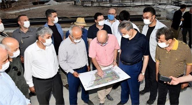 TBMM Plan ve Bütçe Komisyonu Başkanı Elvan, Millet Bahçesi Arazisindeki Çalışmaları İnceledi