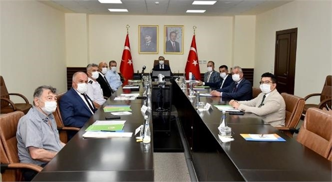 """""""Mersin İli Orman Yangınlarını Önleme Mücadele Komisyonu"""" Vali Su Başkanlığında Toplandı"""