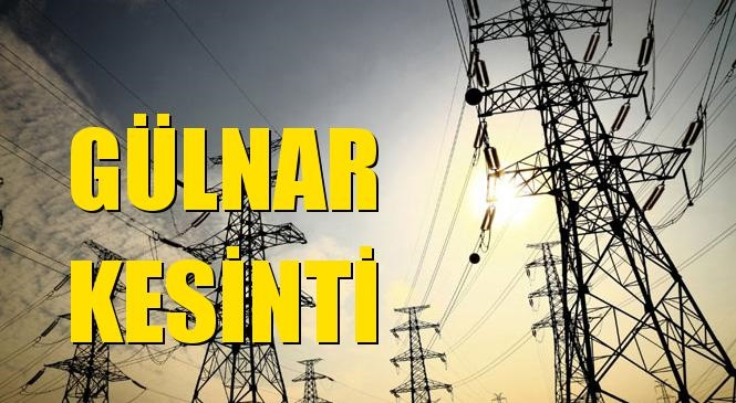 Gülnar Elektrik Kesintisi 18 Ağustos Salı