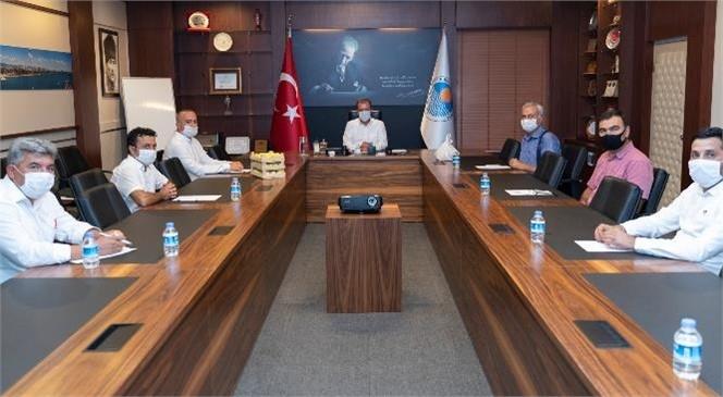 Başkan Seçer, Mut Üreticileri Tarımsal Kalkınma Kooperatifi Yöneticilerini Ağırladı