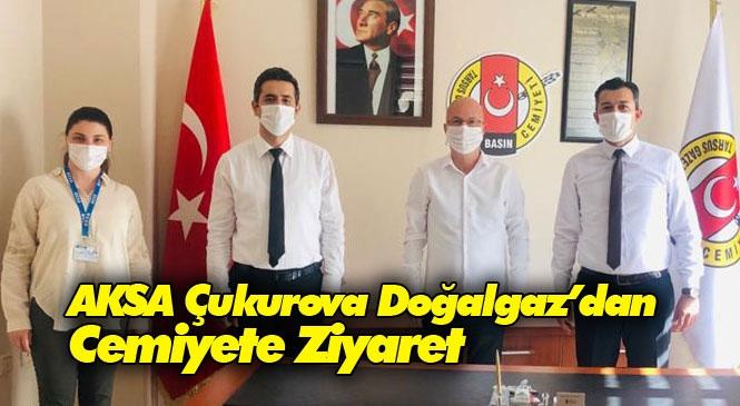 AKSA Çukurova Doğalgaz Mersin Bölge Müdürlüğünden, Tarsus Gazeteciler Cemiyetine Ziyaret