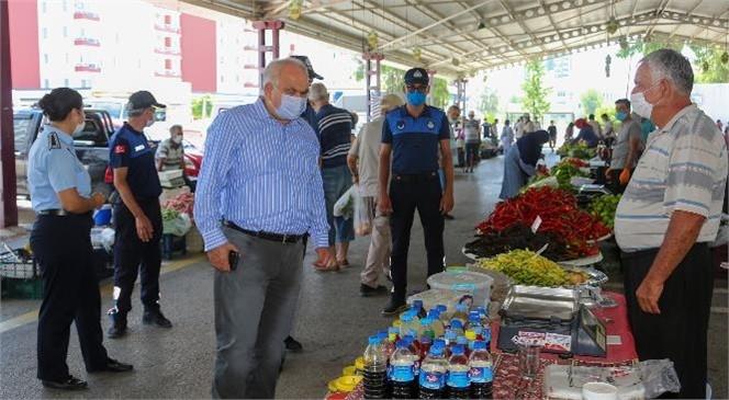 """Mersin Erdemli'deki Üretici Pazarında """"Üretici İle Tüketici"""" Buluşuyor"""