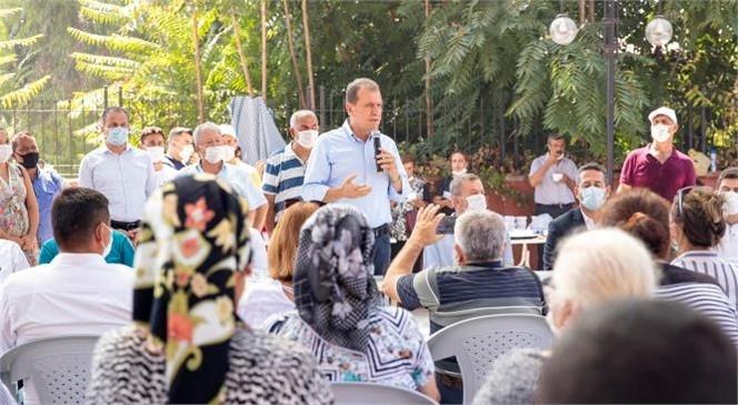 Başkan Vahap Seçer Anamur'da Muhtarlarla Buluştu