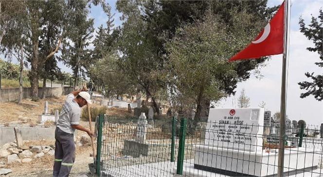 Şehit Sinan Köse'nin Mezarının Çevresinde Büyükşehir Tarafından Düzenleme Çalışması
