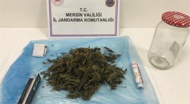 Mersin'de Jandarma Ekipleri Kavanozda Esrar Ele Geçirdi